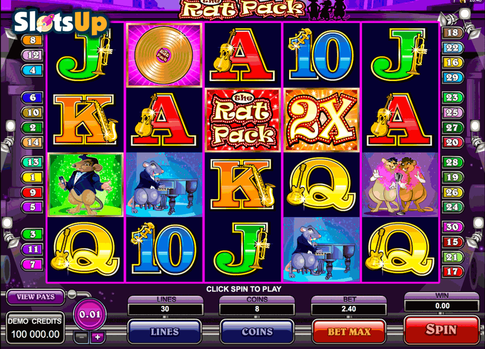THE RAT PACK MICROGAMING CASINO SLOTS