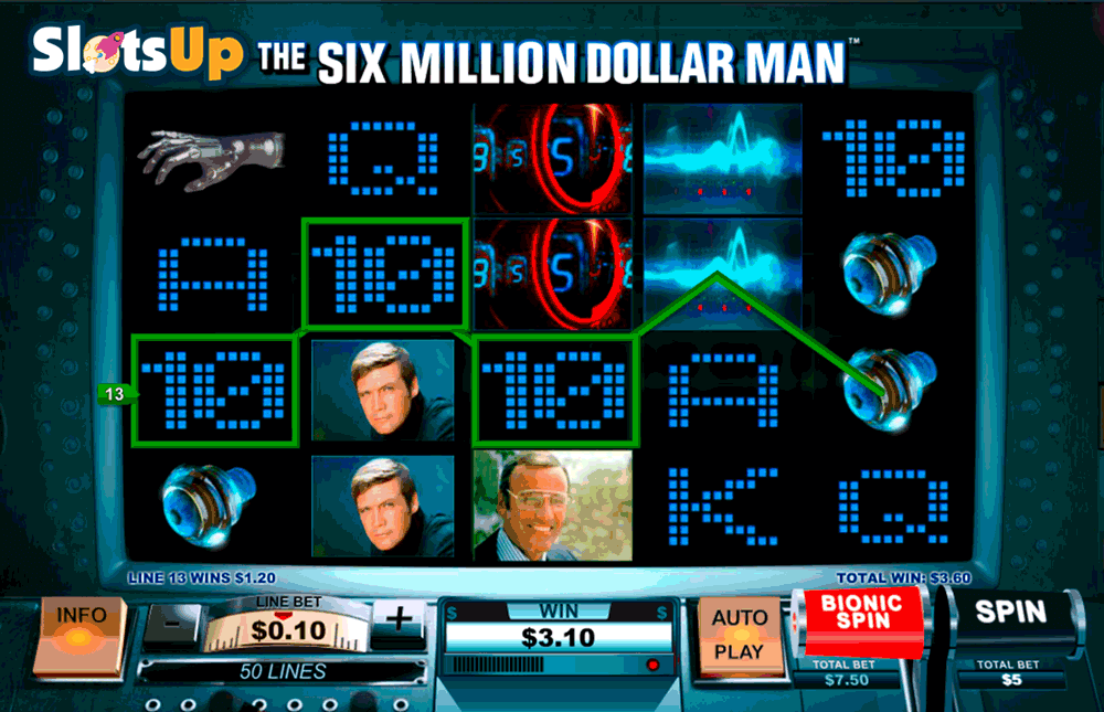Six Million Dollar Man™ Slot Machine Game to Play Free in Playtechs Online Casinos