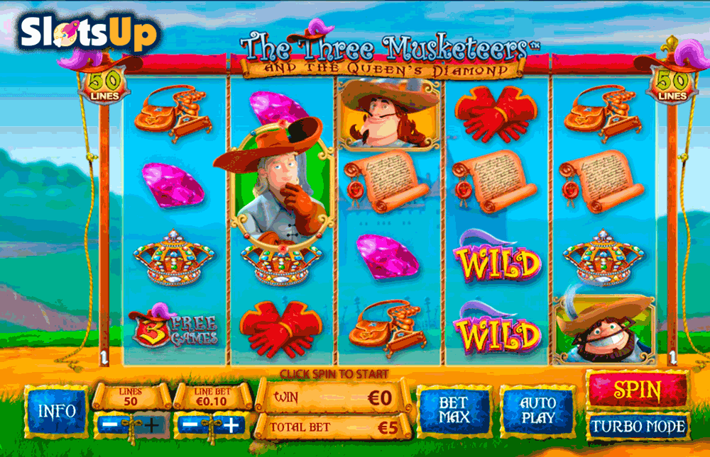 the three musketeers playtech casino slots