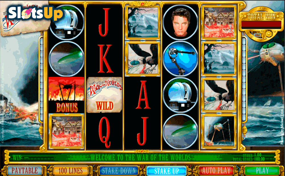 THE WAR OF THE WORLDS ASH GAMING CASINO SLOTS