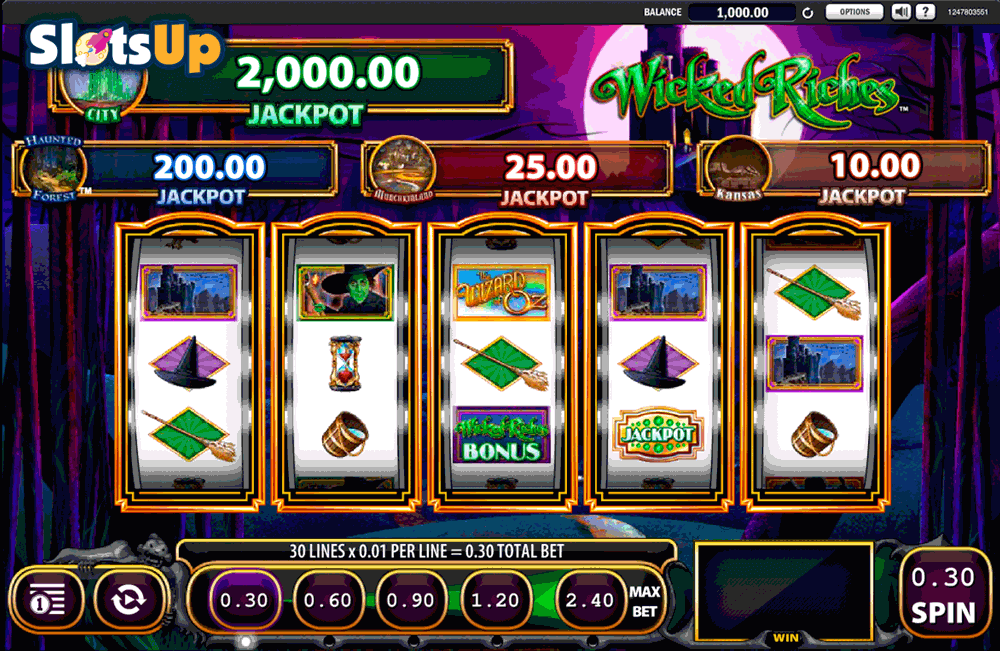 THE WIZARD OF OZ WICKED RICHES WMS CASINO SLOTS