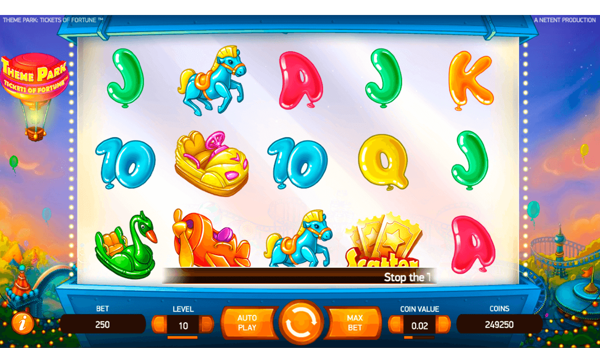THEME PARK TICKETS OF FORTUNE NETENT CASINO SLOTS