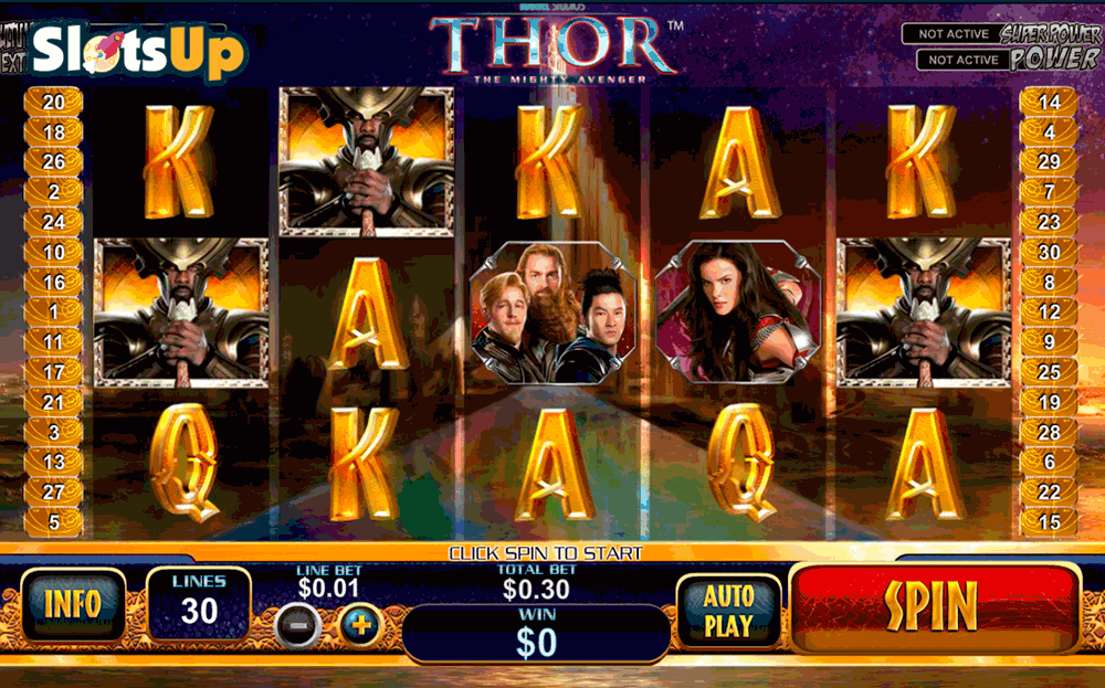 THOR THE MIGHTY AVENGER PLAYTECH CASINO SLOTS