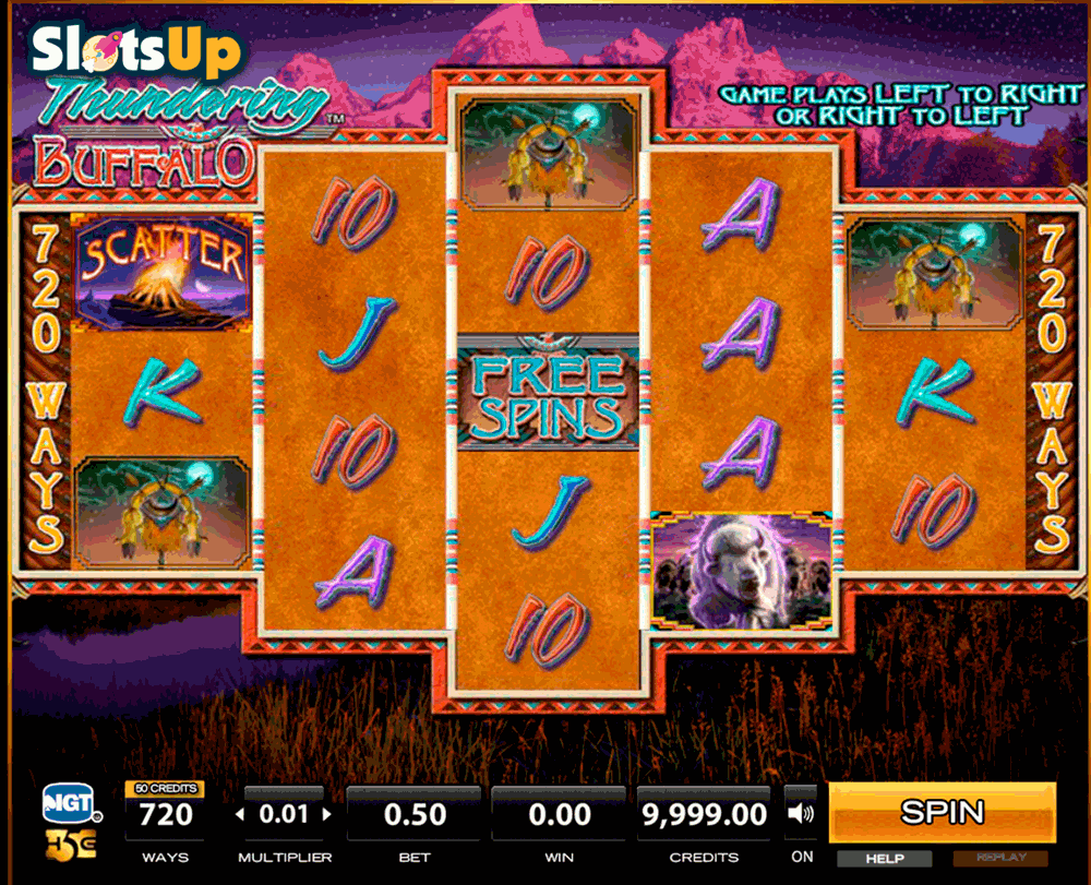 Thundering Buffalo Slot Machine - Play Penny Slots Online