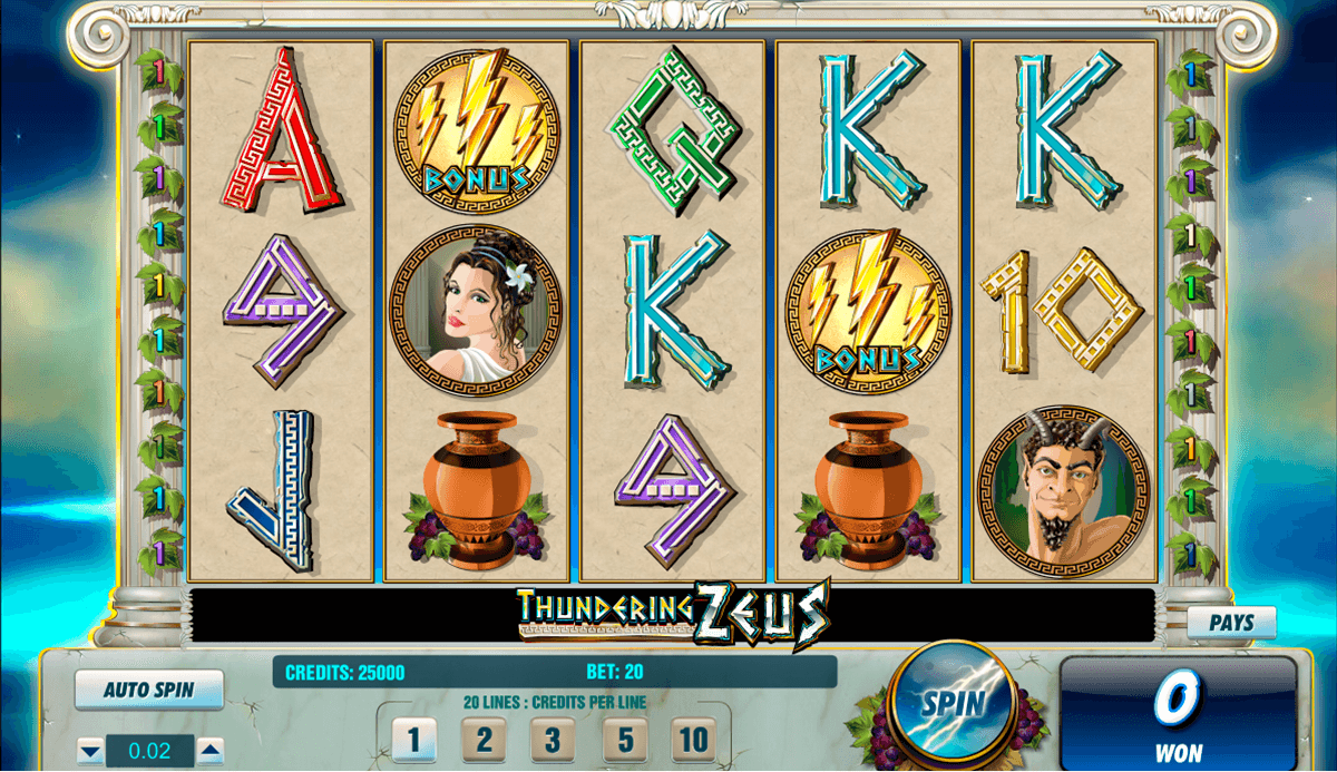 Thundering Zeus™ Slot Machine Game to Play Free in Amayas Online Casinos