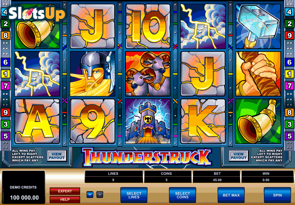 THUNDERSTRUCK MICROGAMING CASINO SLOTS