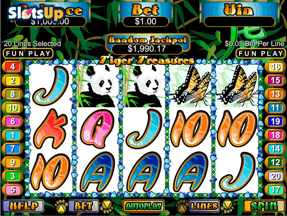tiger treasures rtg casino slots