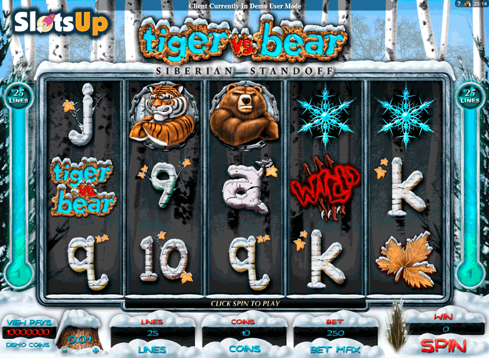 Tiger Vs Bear™ Slot Machine Game to Play Free in Microgamings Online Casinos