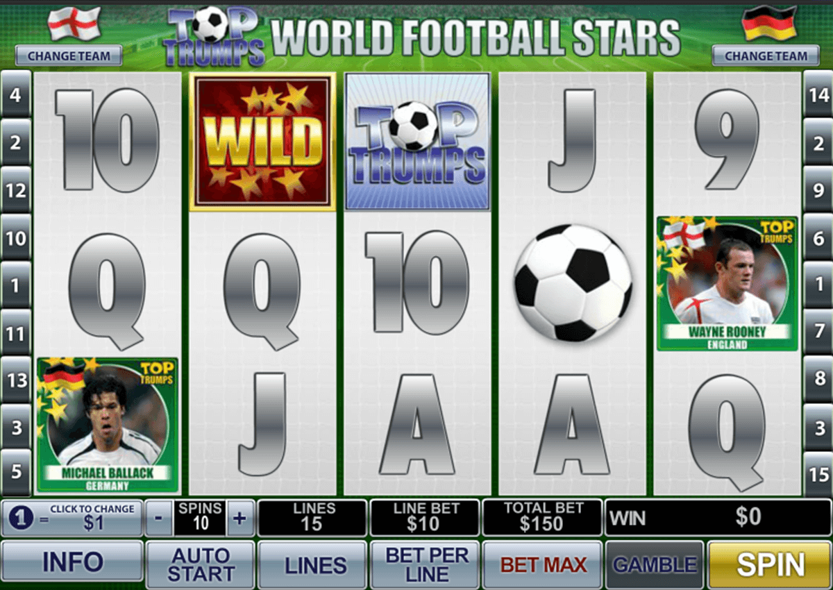 TOP TRUMPS WORLD FOOTBALL STARS PLAYTECH CASINO SLOTS