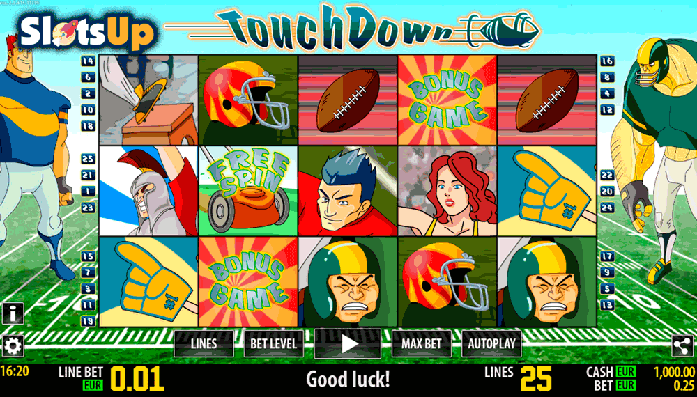 Touch Down™ Slot Machine Game to Play Free in WorldMatchs Online Casinos