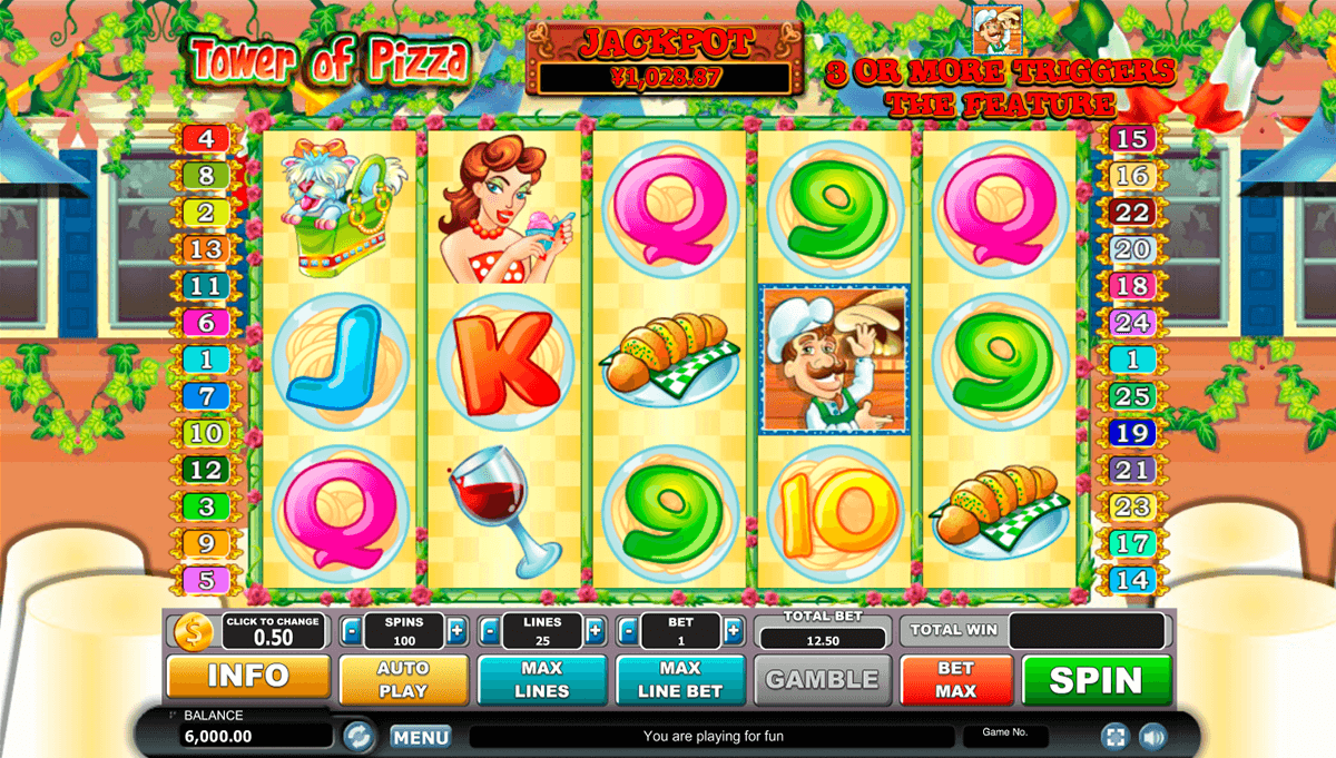 Slot machine pizza