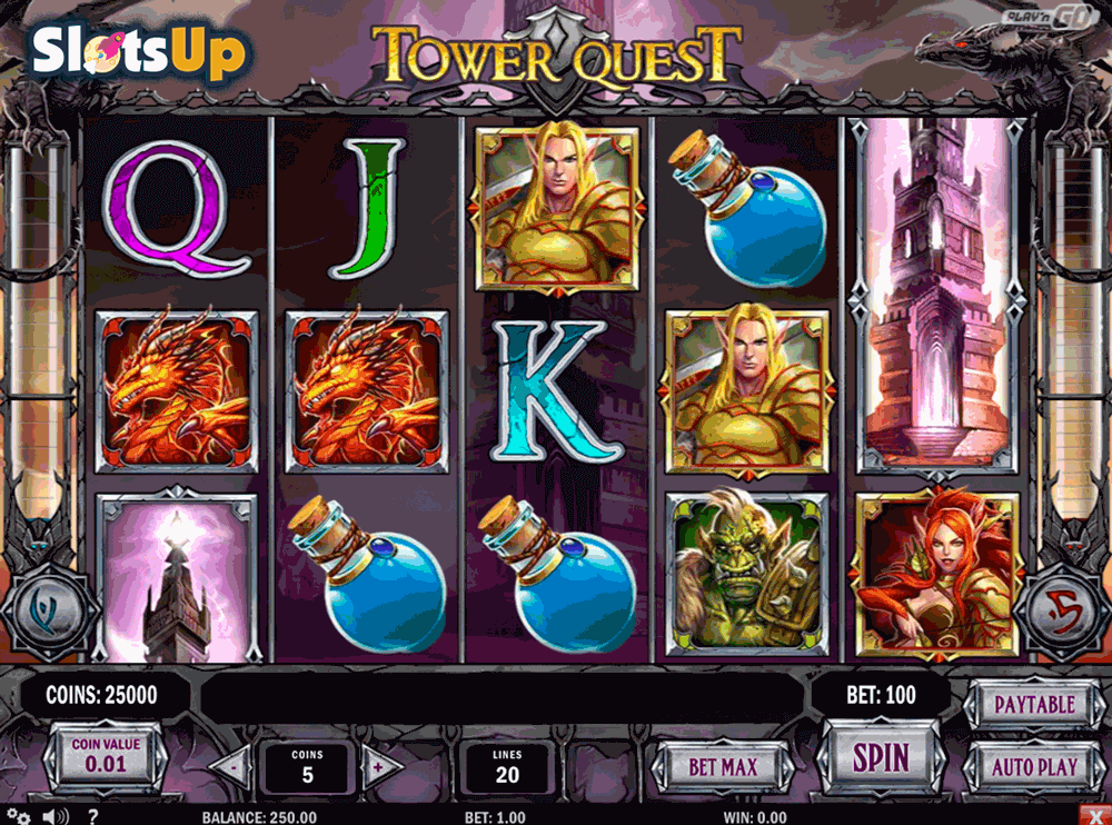 Tower Quest Slot Machine by Play'n GO – Play for Free Online