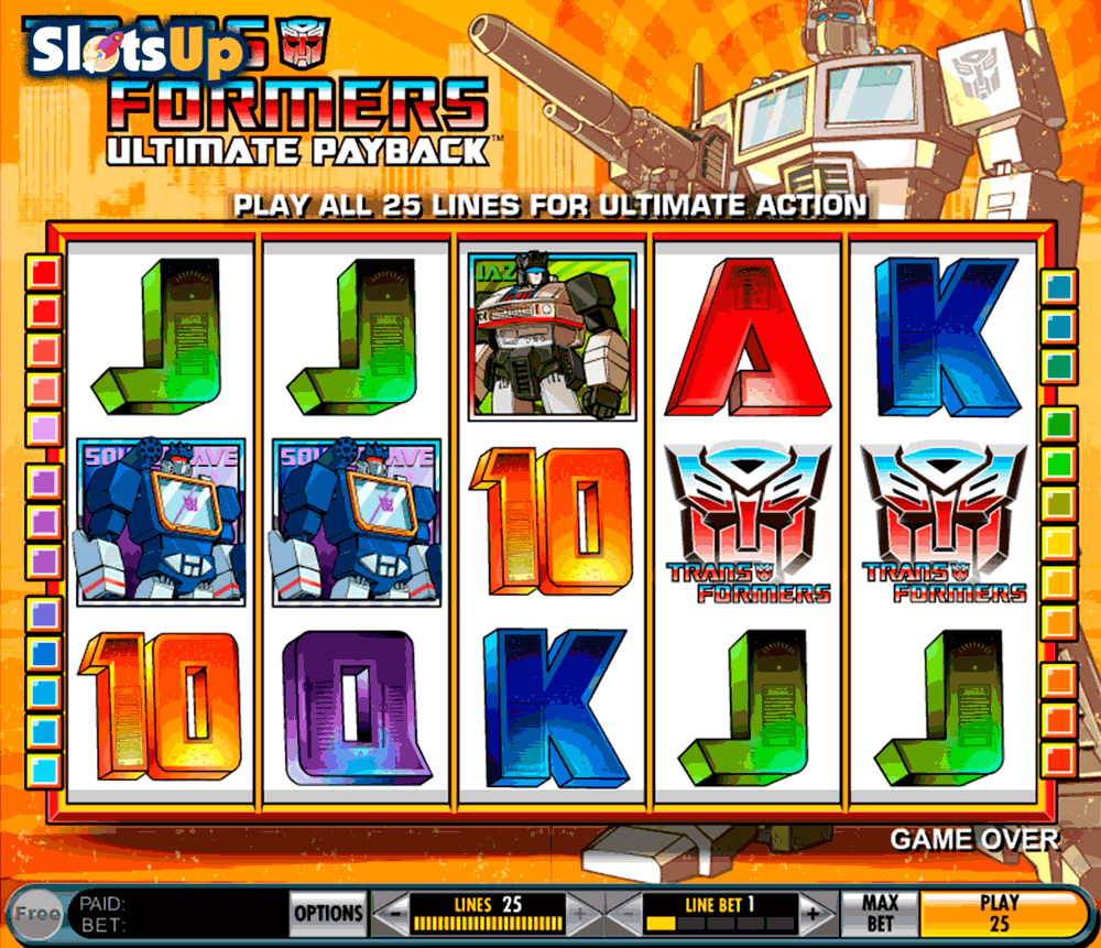 TRANSFORMERS ULTIMATE PAYBACK IGT CASINO SLOTS
