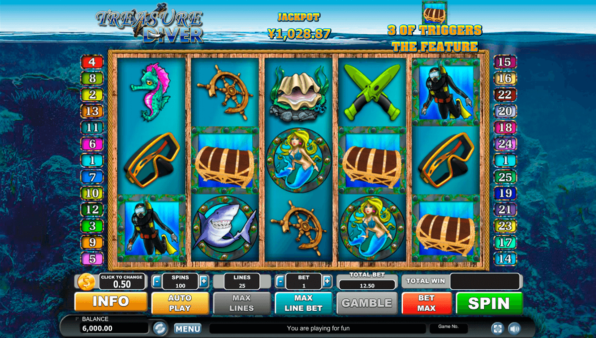 TREASURE DIVER HABANERO SLOT MACHINE