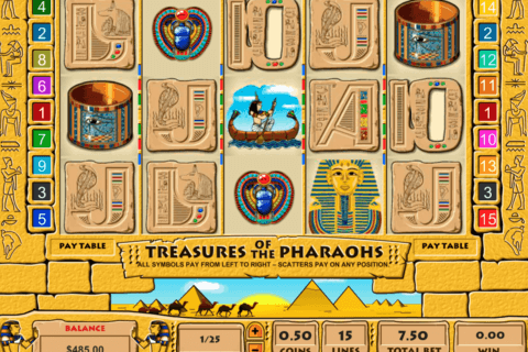 treasure of the pharaohs pragmatic 480x320
