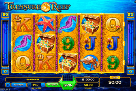 treasure reef gameart slot machine