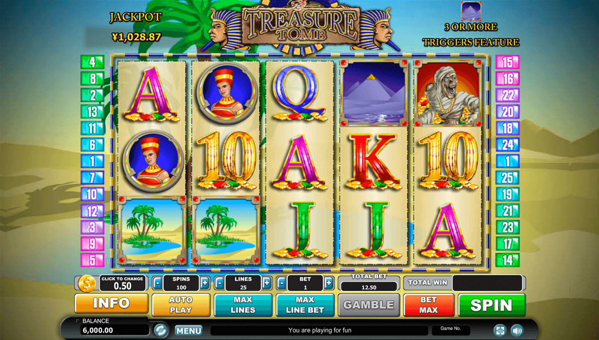Treasure Tomb Slot Machine - Free to Play Online Casino Game