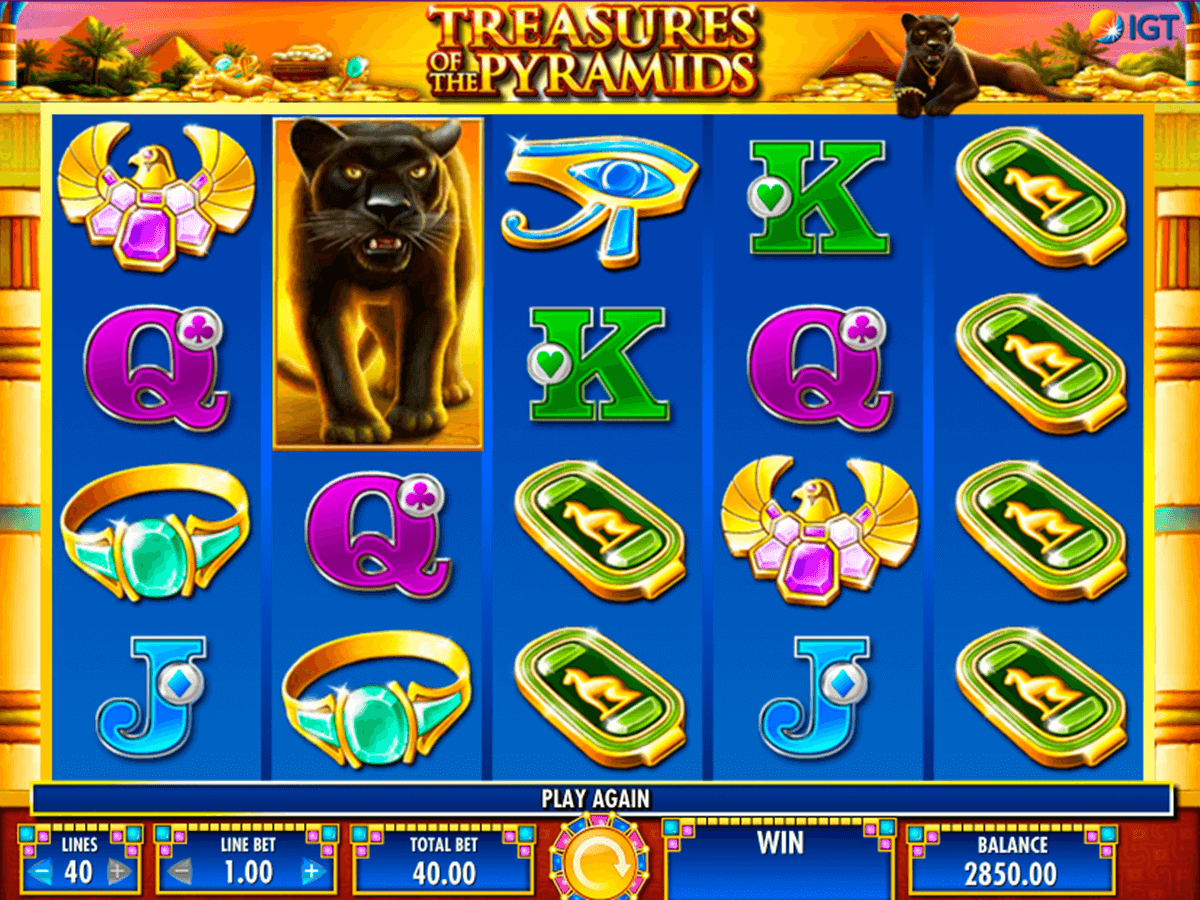 TREASURES OF THE PYRAMIDS IGT CASINO SLOTS