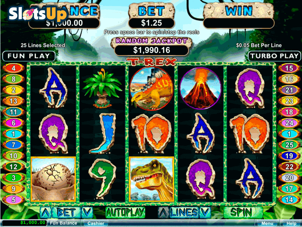 Dinosaur™ Slot Machine Game to Play Free in Playtechs Online Casinos