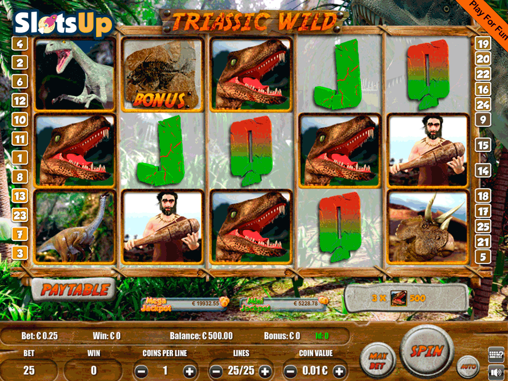 Triassic Wild Slot Machine - Review and Free Online Game