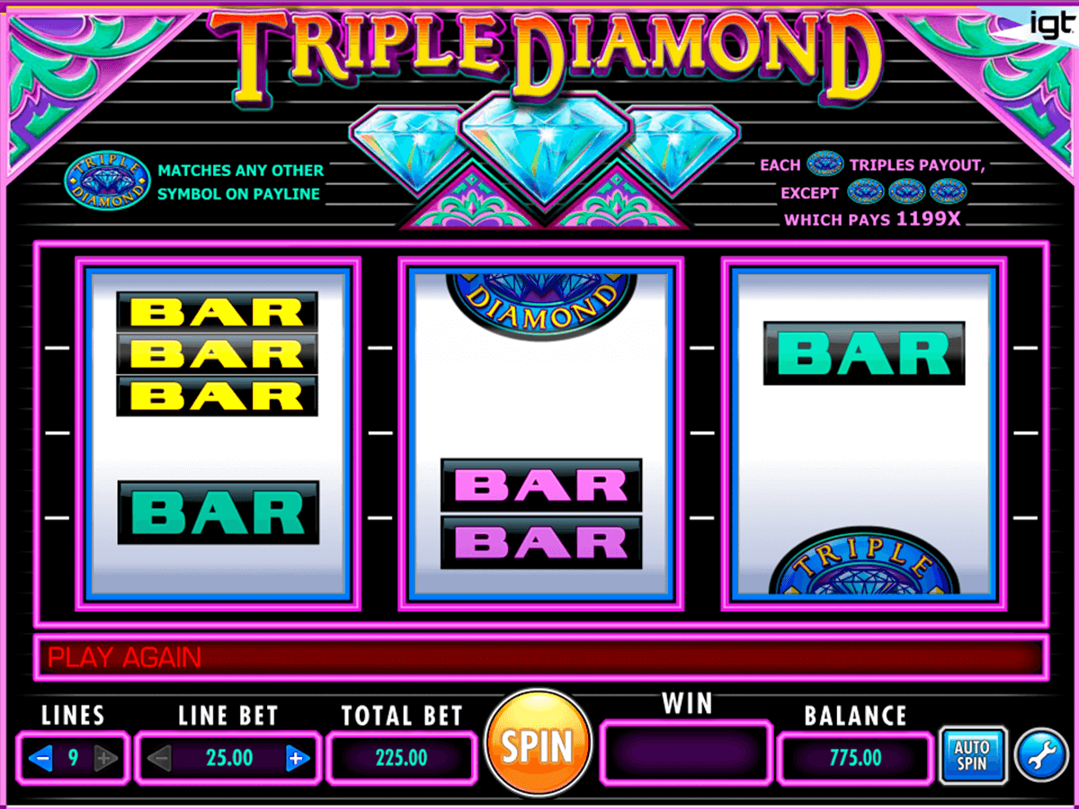 Triple Diamond Slot Machine Online \u1408 IGT Casino Slots