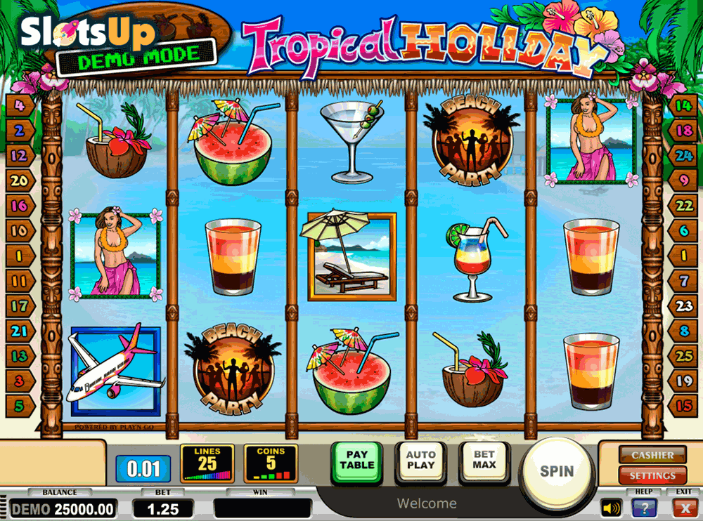 tropical holiday playn go casino slots