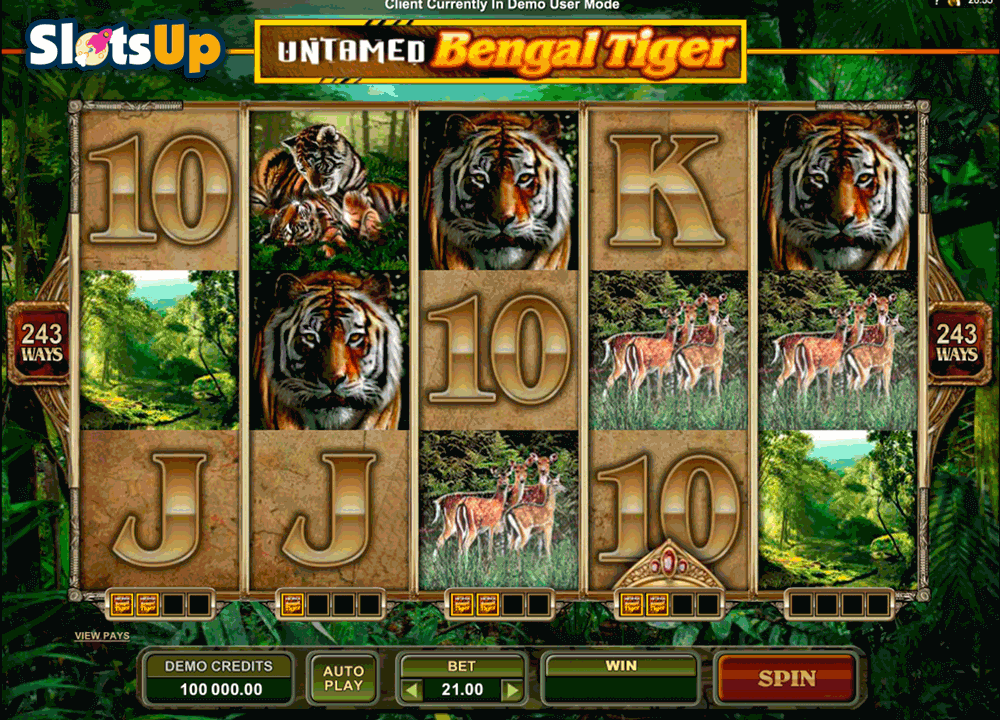 UNTAMED BENGAL TIGER MICROGAMING CASINO SLOTS