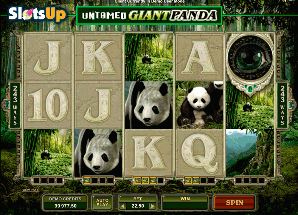 UNTAMED GIANT PANDA MICROGAMING CASINO SLOTS
