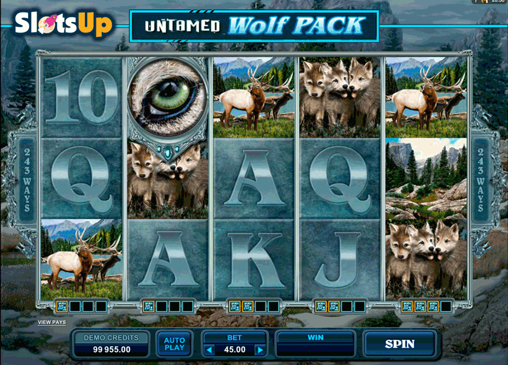 untamed wolf pack microgaming casino slots
