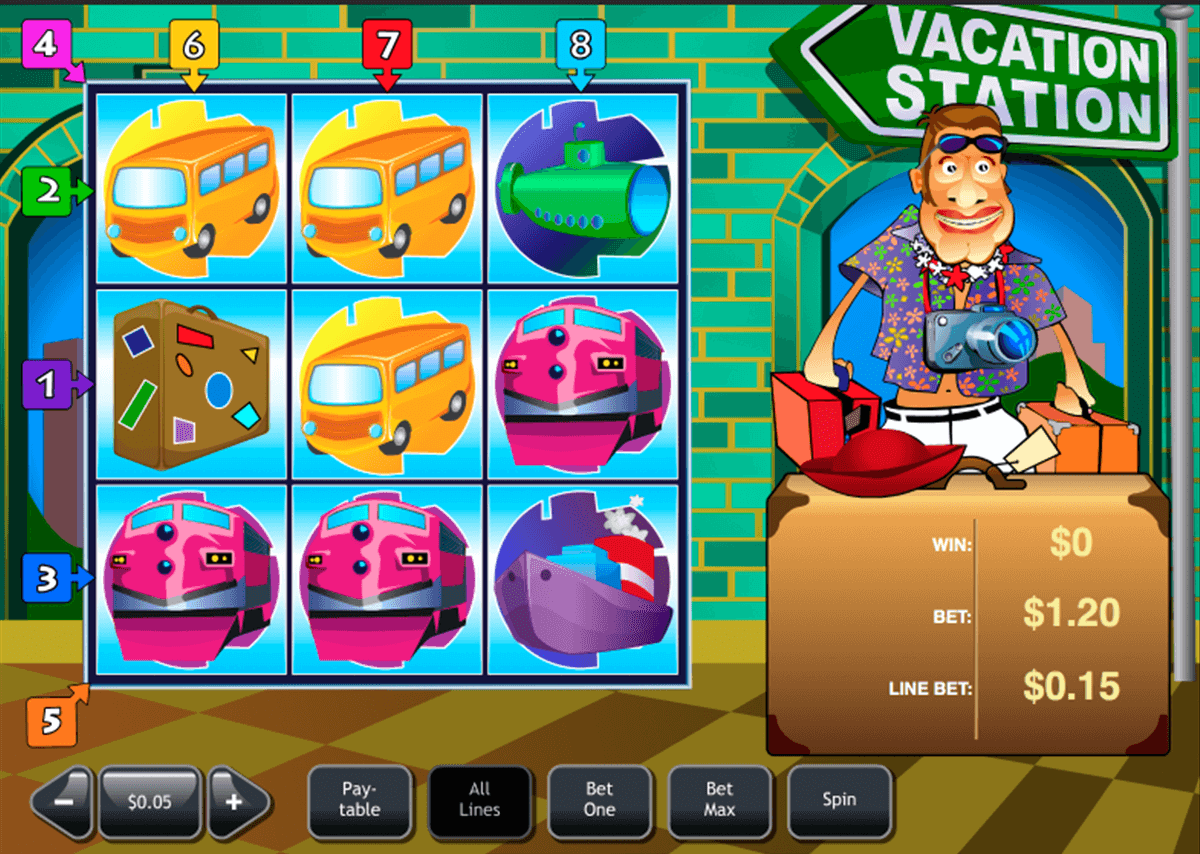 Play Vacation Station Deluxe online slots at Casino.com