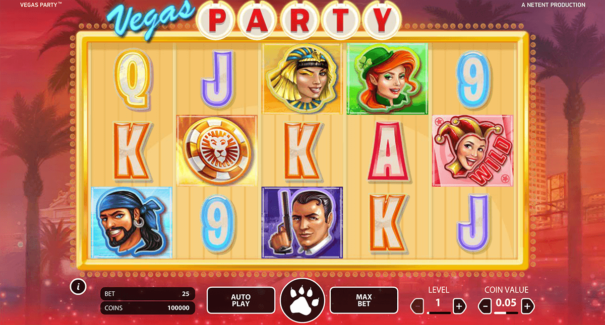 VEGAS PARTY NETENT CASINO SLOTS