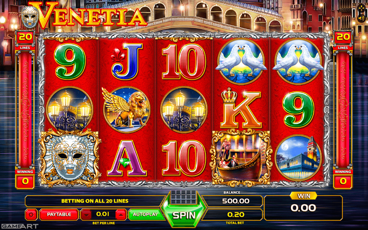 VENETIA GAMEART SLOT MACHINE