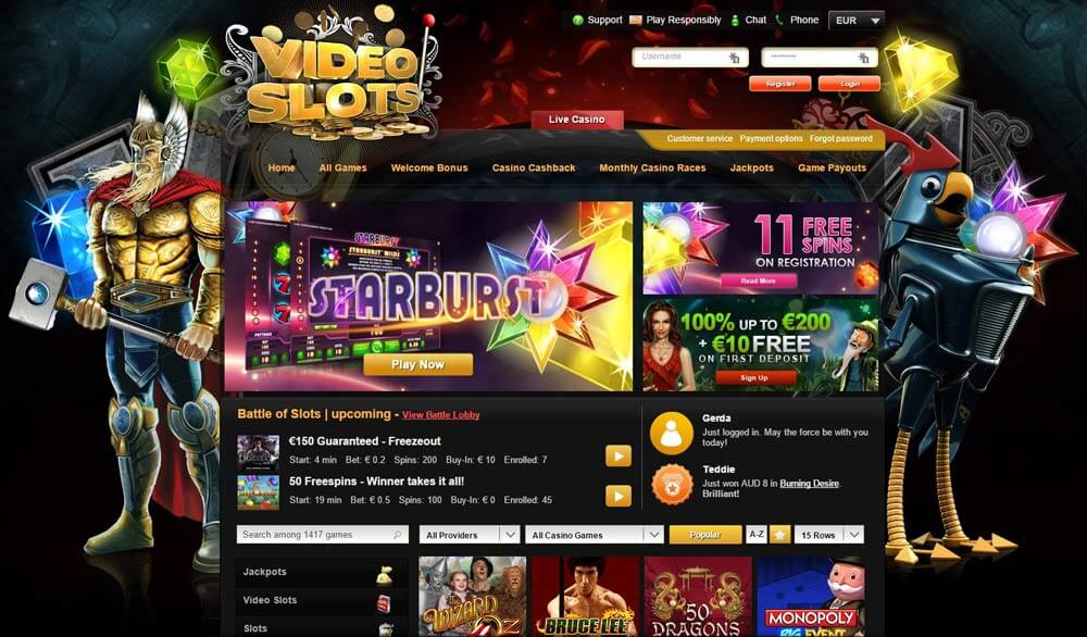 VIDEOSLOTS CASINO PREVIEW