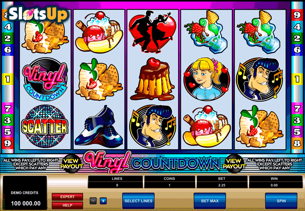 Vinyl Countdown™ Slot Machine Game to Play Free in Microgamings Online Casinos