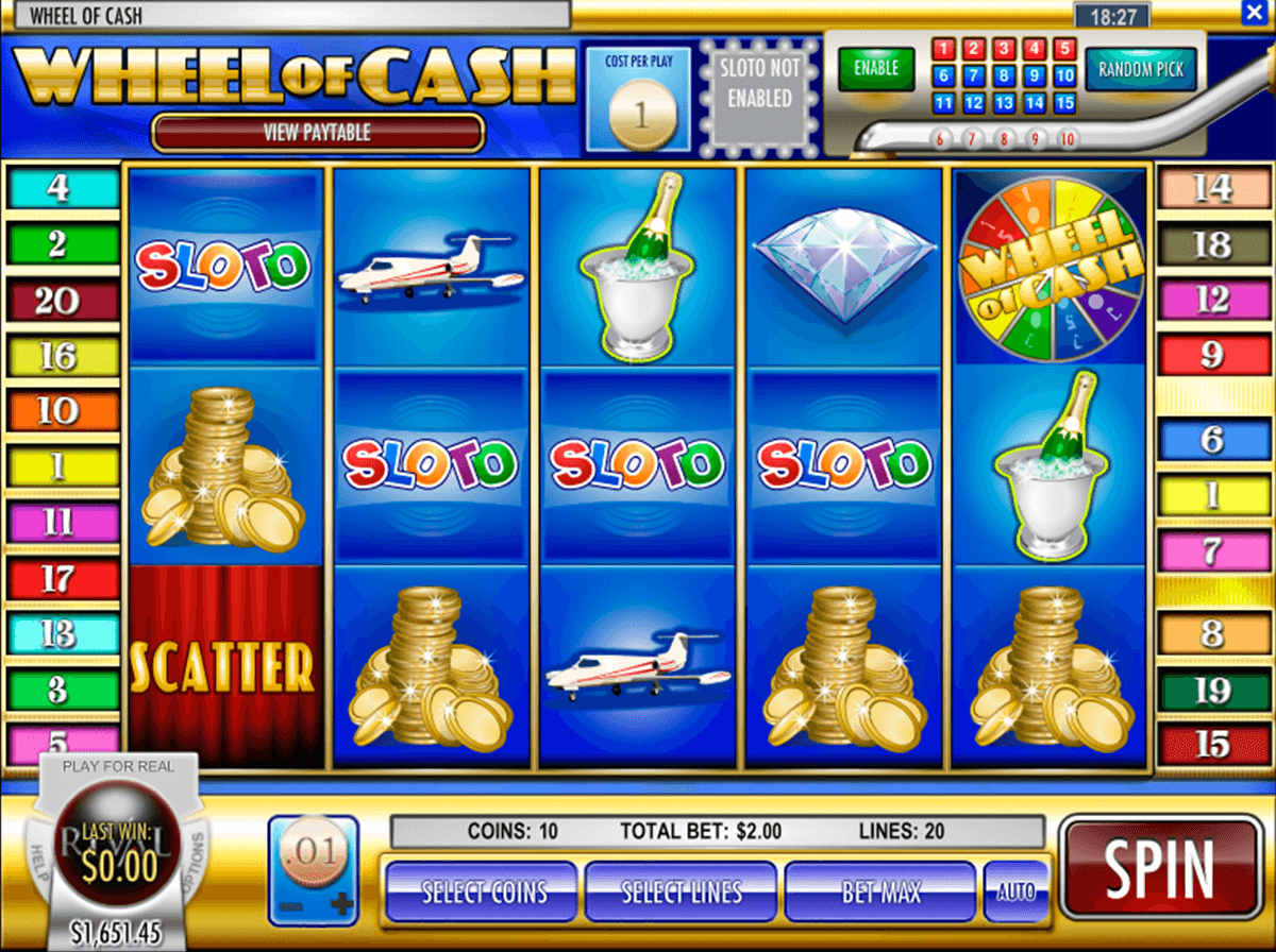 free online casino wheel book