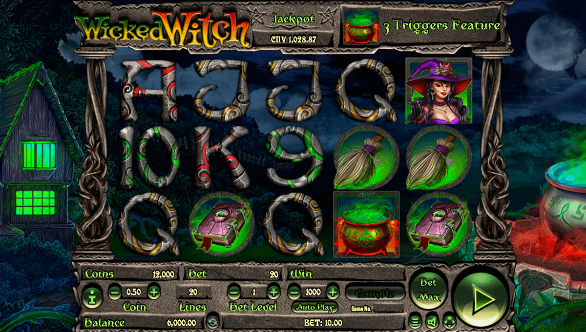 WICKED WITCH HABANERO SLOT MACHINE