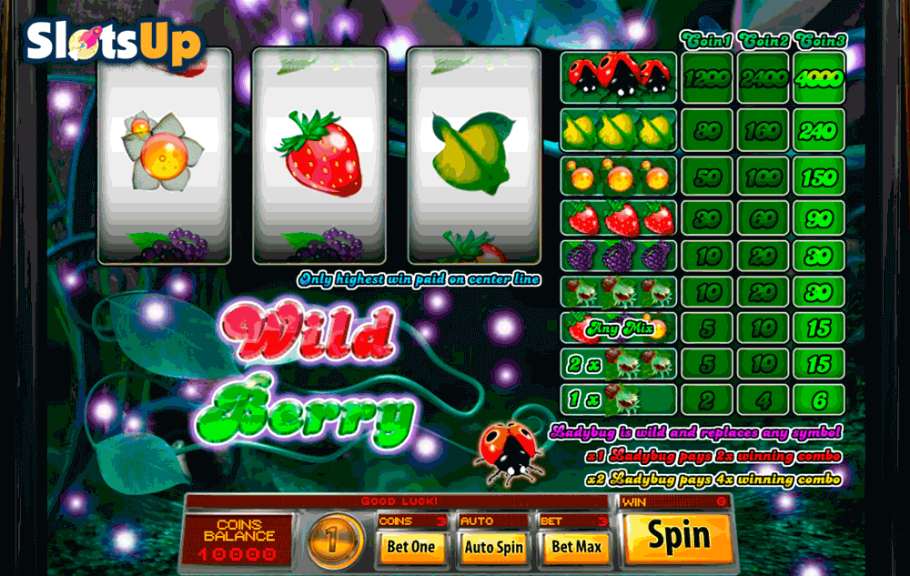 Wild Berry (5 reels)™ Slot Machine Game to Play Free in Saucifys Online Casinos