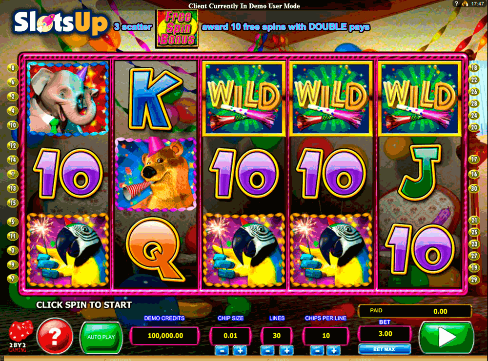WILD BIRTHDAY BLAST 2BY2 GAMING CASINO SLOTS