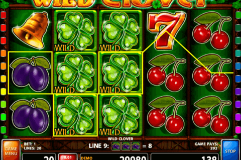 WILD CLOVER CASINO TECHNOLOGY SLOT MACHINE