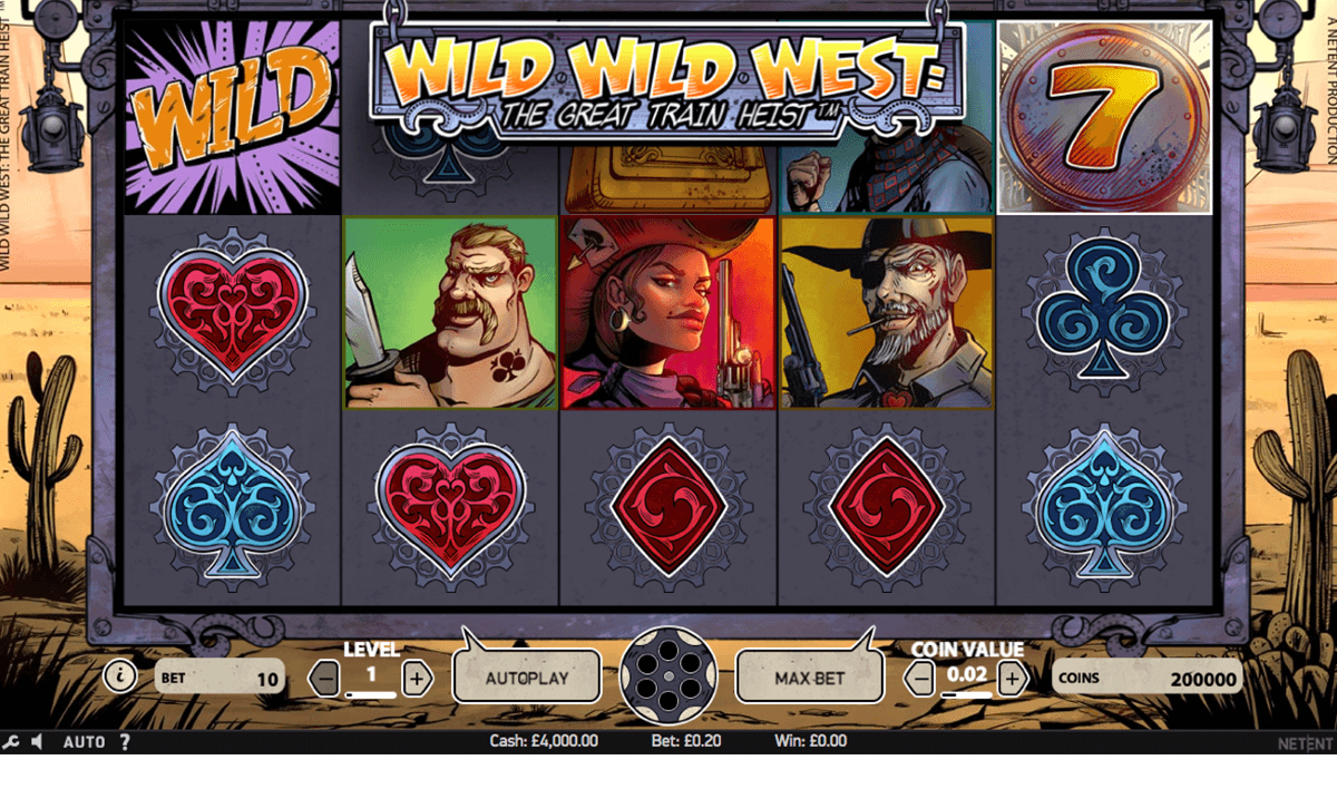 Wild wild west the great train heist netent