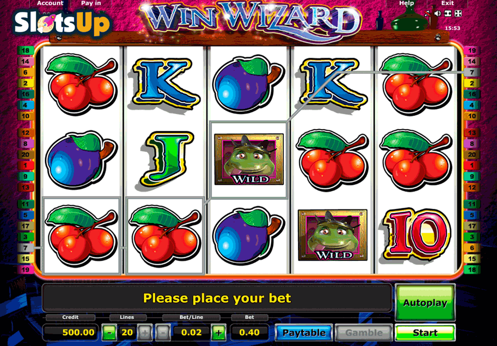 novomatic online casino wizards win