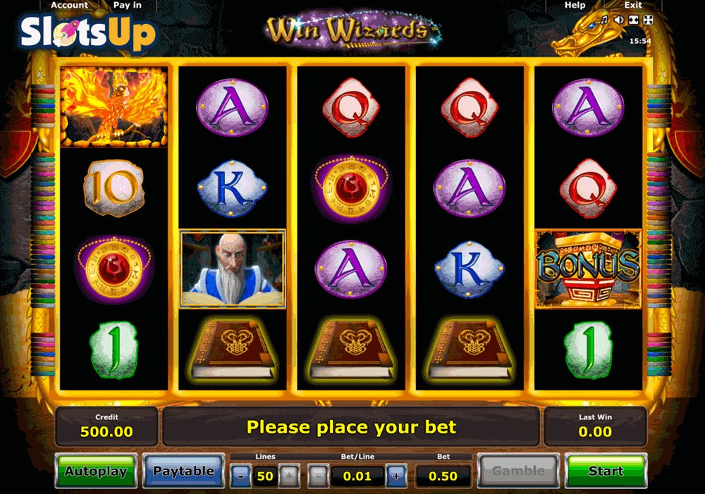 free online casino video slots wizards win