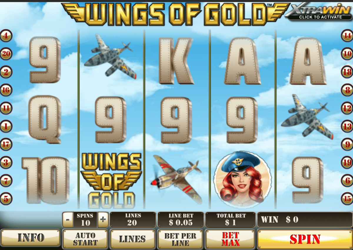 Play Wings of Gold Slots Online at Casino.com NZ