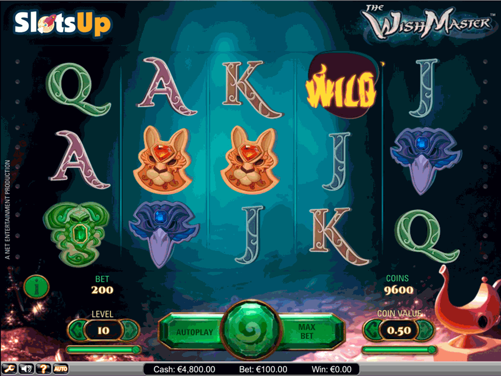 Wish Master™ Slot Machine Game to Play Free in NetEnts Online Casinos