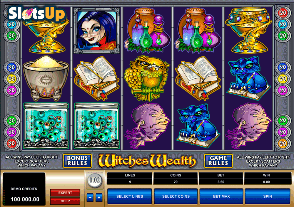 WITCHES WEALTH MICROGAMING CASINO SLOTS