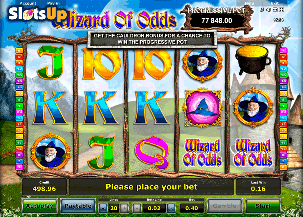 WIZARD OF ODDS NOVOMATIC CASINO SLOTS