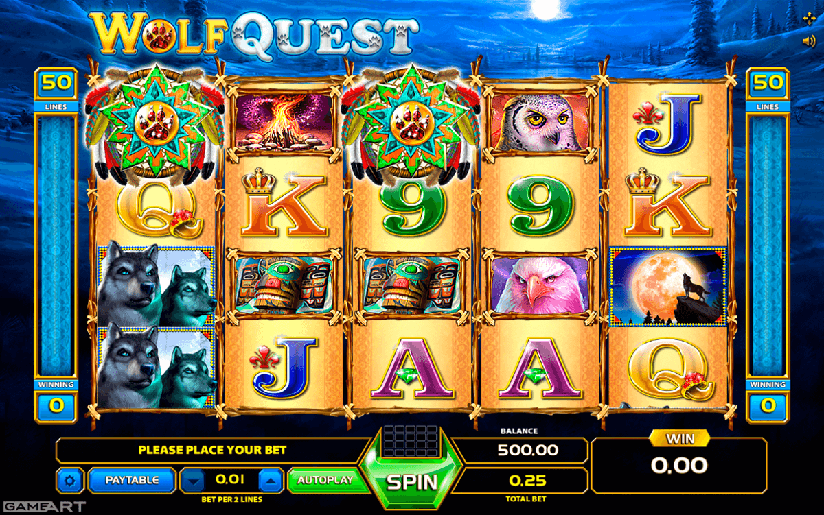 WOLF QUEST GAMEART SLOT MACHINE