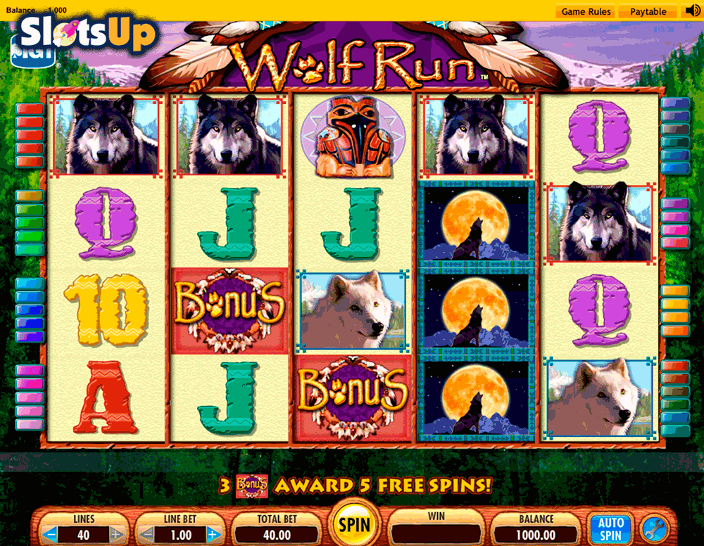 wolf run igt casino slots