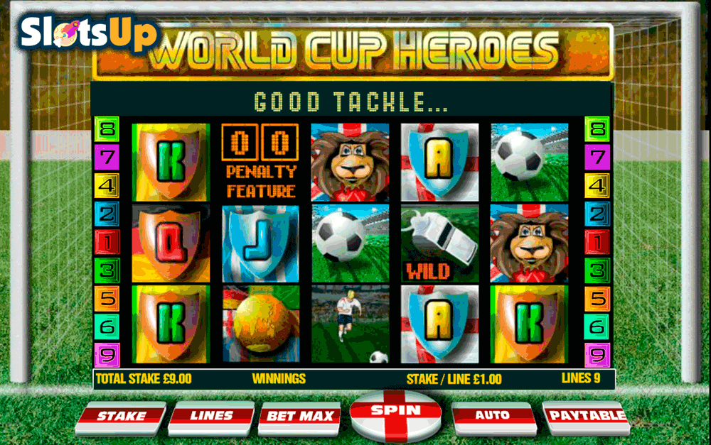 World Cup Soccer Spins Slots - Play for Free or Real Money