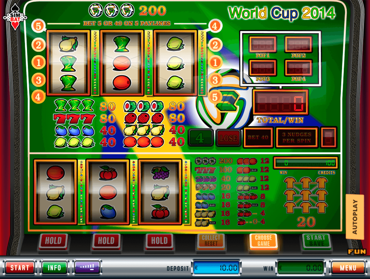 World Cup 2014 Slot Machine - Free to Play Online Demo Game